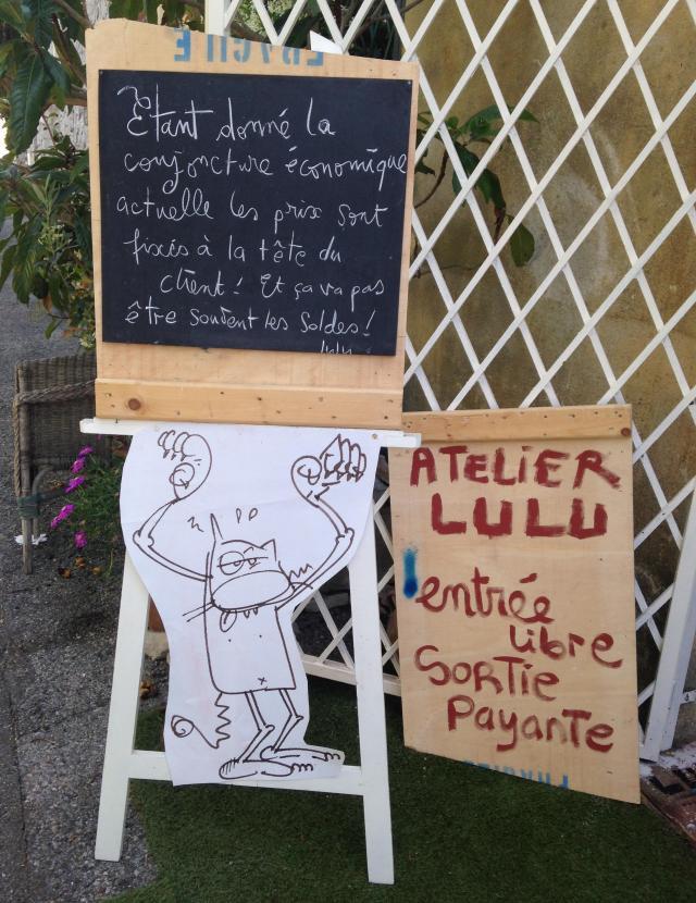 Cabris. Atelier Galerie Lulu sign
