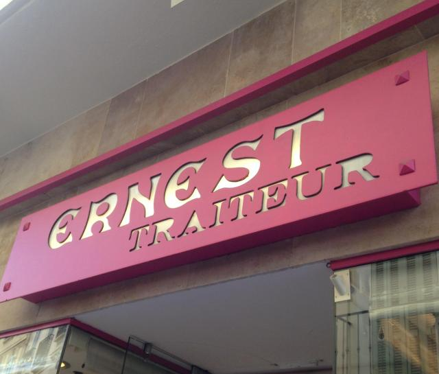 Cannes. Ernest sign. Great caterer and take out.