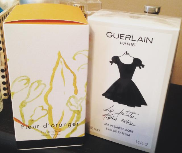 Shopping. My two scents worth. Fleur d'oranger and la petit robe noir.