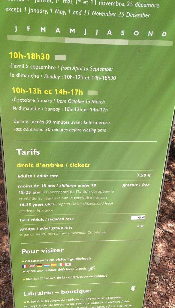 Thoronet Tarif sign. GOLD