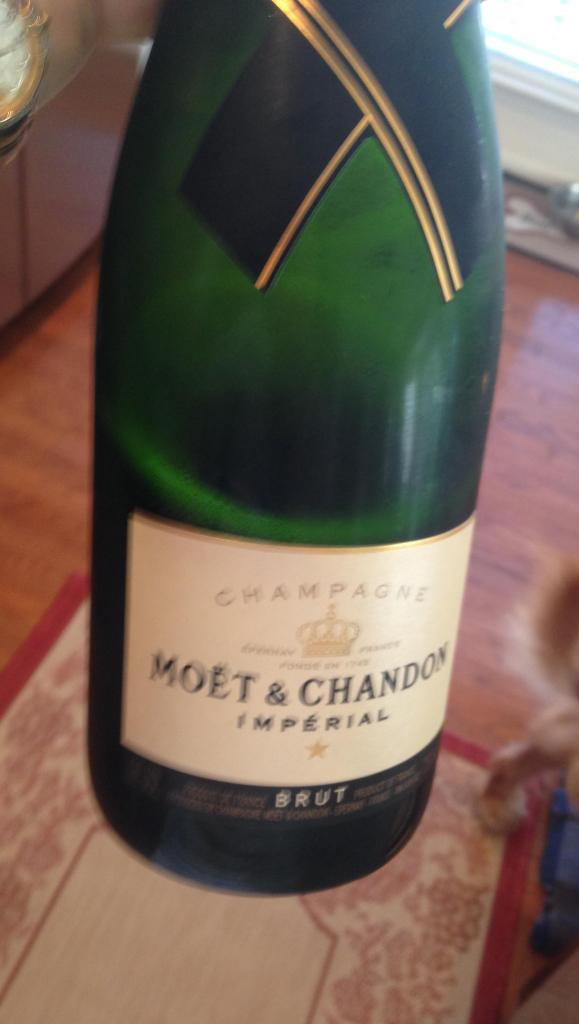 I opened the wrong champagne