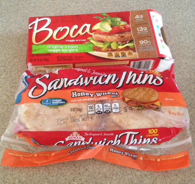 Boca burgers and sandwich thins
