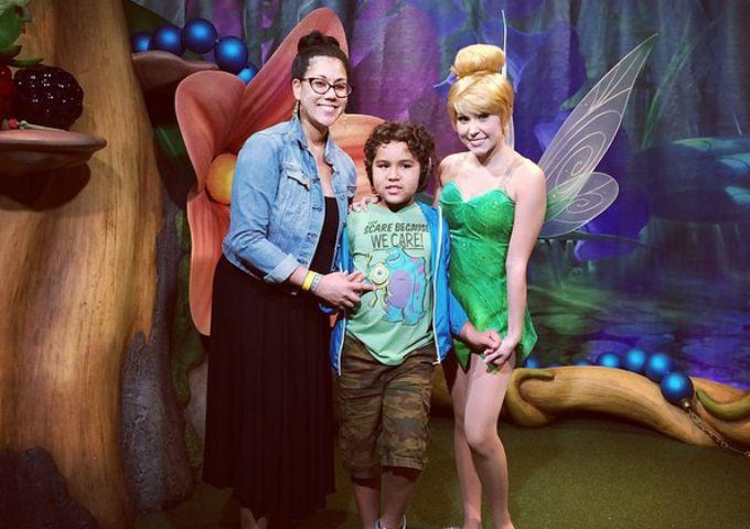 Meeting Tinkerbell at the Magic Kingdom