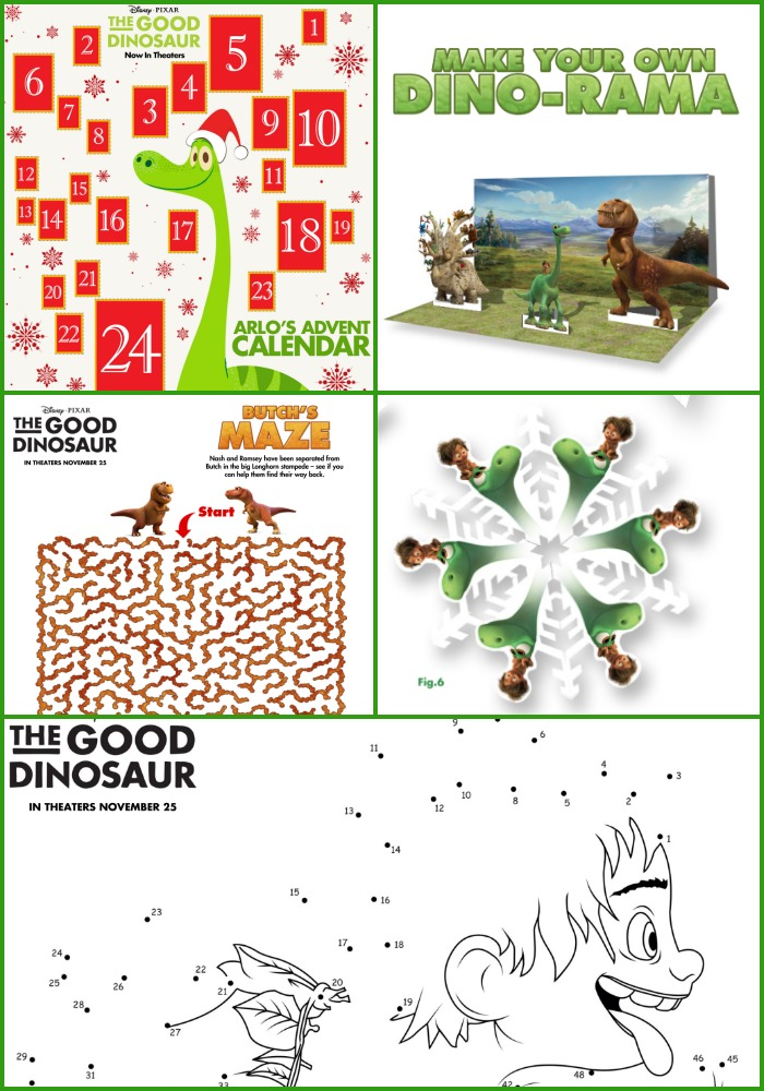 Good Dinosaur Activity Pages Atypical Familia