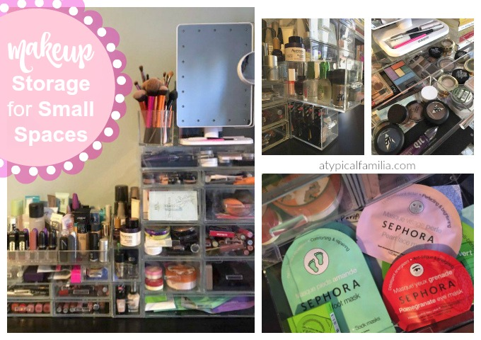 Makeup storage for small spaces