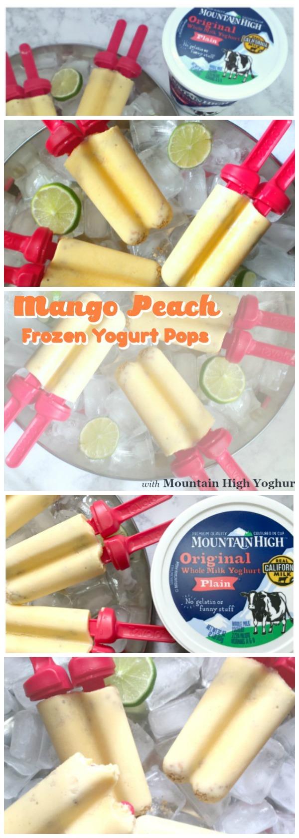 Frozen Yogurt Mango Peach Pops with Mountain High Yoghurt via Atypical Familia by Lisa Quinones Fontanez