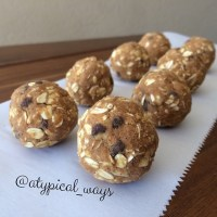 'No bake/Gluten Free' Pumpkin & Chocolate Chip PROTEIN Bites!