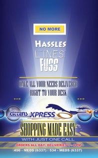 Gittens Express delivery flyer