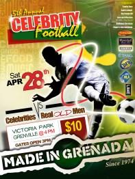 Made in Grenada's Celebrity Football flyer