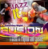 "Spice Basket's ""Saturday Night Fusion"" flyer"