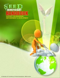 Suggested cover for the Ministry of Social Development's SEED Handbook