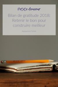Bilan de gratitude: Revenir sur 2018 pour préparer 2019