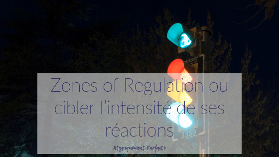 Zones of Regulation ou cibler l'intensité de ses réactions