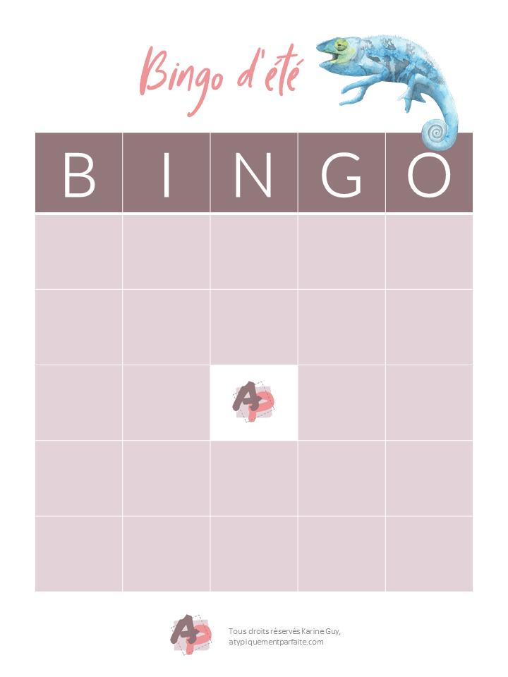 Bingo d'été - Carte vierge Parce que pour divertir les enfants, il faut souvent prendre des moyens créatifs. #pasdecampdejour