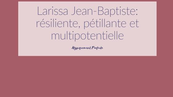 Multipotentielle est le premier mot qui vient à l'esprit quand on parle à Larissa Jean-Baptiste. Cette femme est remplie de magnifique valeur et s'ouvre sur sa famille atypique dans cette magnifique entrevue. #diagnostics #multipotentiels #besoinsparticuliers #empathie #talents #bienveillance #famille #atypique #unicité