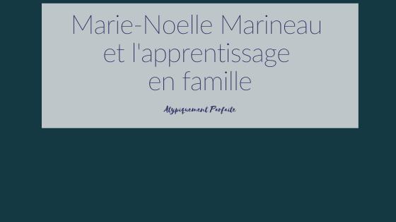 Apprentissage en famille. Marie-Noelle Marineau parle avec passion de son aventure en famille. #homeschooling #unschooling #apprentissageenfamille #marienoellemarineau #entrevue