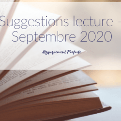 Suggestions lecture – Septembre 2020