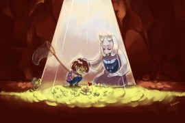 Il·lustració inspirada en 'Undertale'