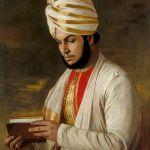 Portrait peint d'Abdoul Karim, réalisé à la demande de la Reine