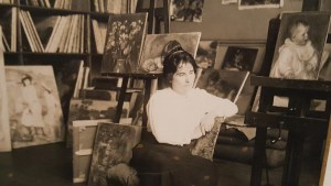 Gabrielle Renard in Pierre-Auguste Renoir's studio, 1895