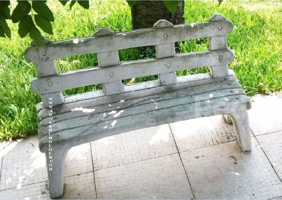 banc de jardin en pierre pour enfants a