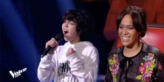 The Voice Kids: Ali, le Marocain qui a bluffé Amel Bent (vidéo)