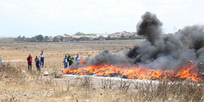 Grosse opération d'incinération à Dakhla