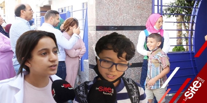 Rentrée scolaire: les élèves heureux de retrouver les classes ! (VIDEO)
