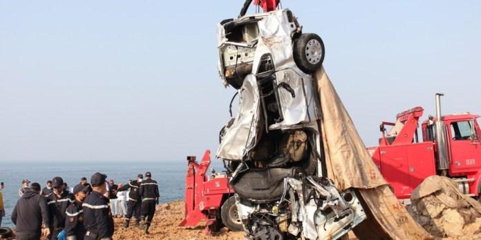 Rabat: la voiture précipitée dans la mer a été repêchée