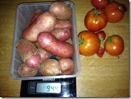 pesé de pommes de terre