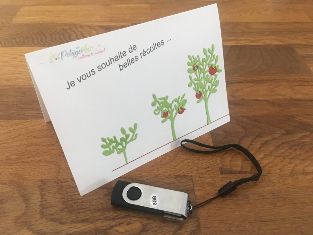 Clé USB de printemps pour le potager