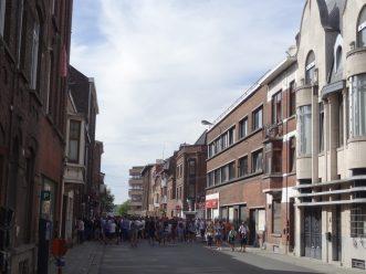 supporters de charleroi en ville
