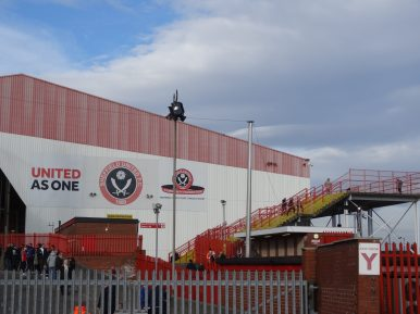 escalier vers le kop de sheffield united