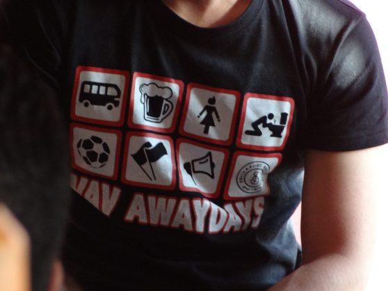 t-shirt awaydays d'un ultra du fc séville