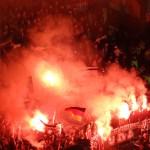 fumigènes des fans du borussia monch. au celtic park