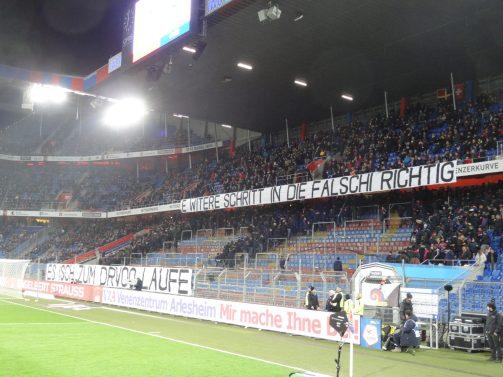 grêve des ultras bâlois vs saint-gall
