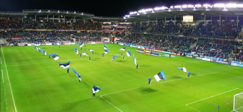 FC Flora & sélection d'Estonie au stade A. Le Coq Arena à Tallin