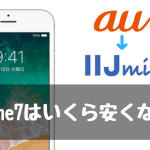 au iphone7 IIJmio みおふぉん