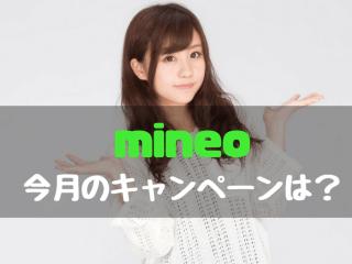 mineo マイネオ キャンペーン情報