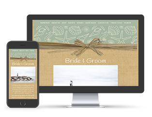Paperless Wedding Website Raffia Template