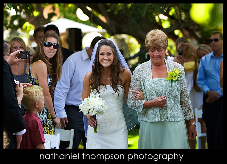 Mother of the bride walk down the aisle