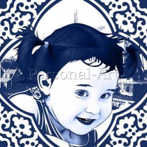 Delftware Portrait