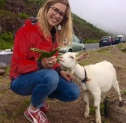 Laura and goat