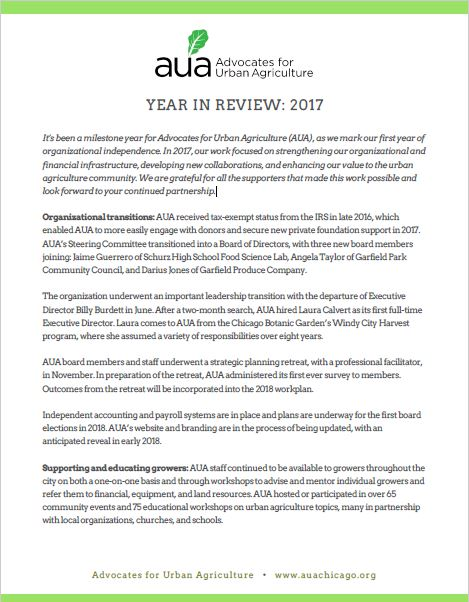 AUA's 2017 Year and Impact Review