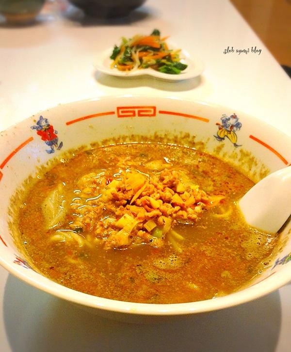 坦々麺と付け合せおかずの献立レシピ