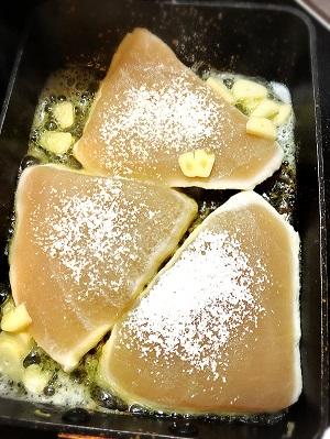 他人丼とカジキのソテーの付け合せおかずの献立レシピ