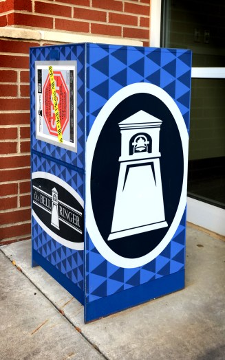 Here is Baillie Conway's design model of a newsstand box on campus, which is one of the winning designs in the contest. (Photo: Baillie Conway)
