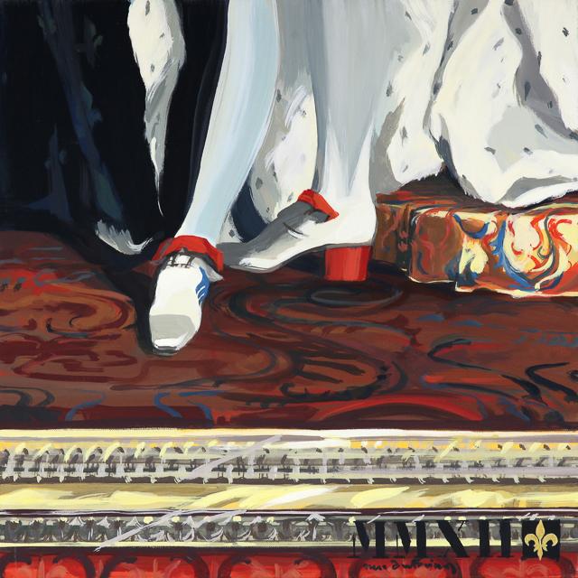 La Victoire est en Nous - Détournement des tableaux officiels du Château de Versailles par Michelle Auboiron