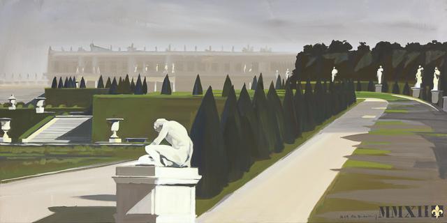Brumes - Peinture du Parc du Château de Versailles par Michelle AUBOIRON