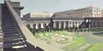 ma-vie-de-chateau-peinture-michelle-auboiron-42-orangerie-et-chateau-depuis-escalier-des-100-marches-75x150
